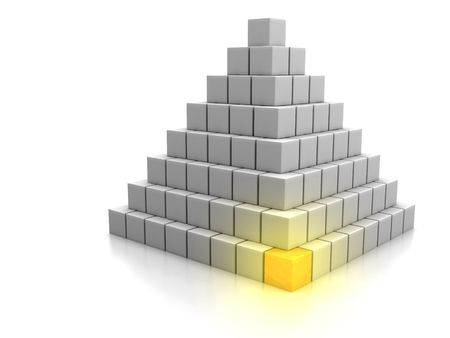 Computer generated concept of cornerstone photo