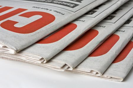 Duplicate copies of a daily newspaper. Can be used as conceptual or to indicate print media. Stock Photo - 3647078