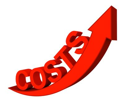 Quality 3d render of rising costs concept Stock Photo - 3653893