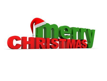 cappello natale: Le parole di Natale Buon Natale e un cappello. XXL Archivio Fotografico