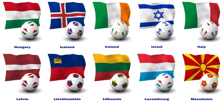 Three dimensional render of ten of Europe's best Football Nations. 3 of 5 in this series. Stock Photo - 10644345