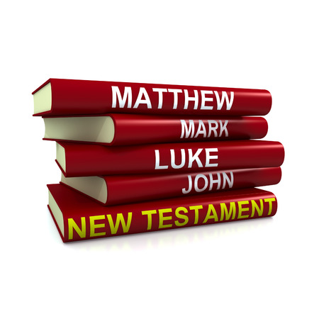testament: High resolution 3D render of pile of the books of the New Testament