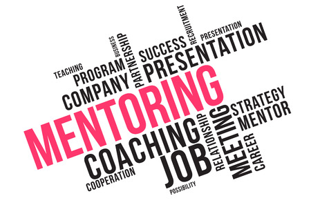 MENTORING word cloud collage, business concept background.
