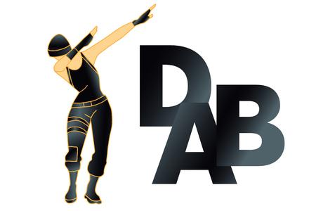 DAB dance, t shirt. Vector. Vecteurs