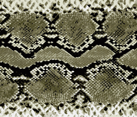 Snake skin gold pattern. Texture snake. Fashionable print. Fashion and stylish background. Archivio Fotografico - 125293387