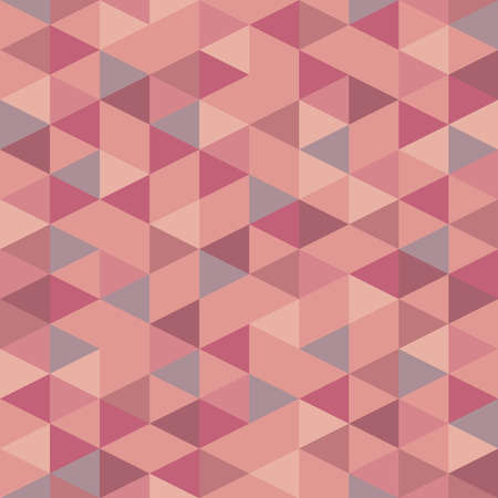 Seamless pink pastel triangle pattern. Vector background. Geometric abstract texture Ilustración de vector