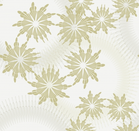 Beautiful seamless pattern in beige tones with floral elements Illustration