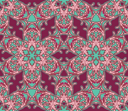 Vector  lace seamless texture in the oriental style Vector