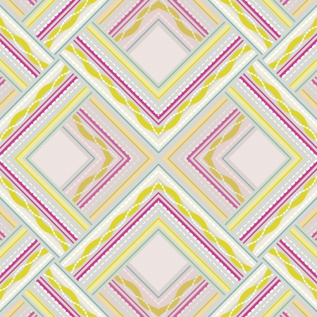 Seamless pattern of colored lines and dots. Vector