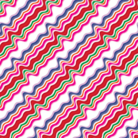 Bright seamless pattern with diagonal wavy lines photo