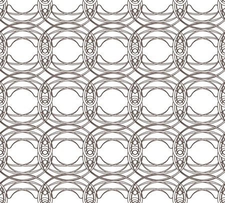 Seamless pattern with weaving circle mesh. Geometric seamless pattern. photo
