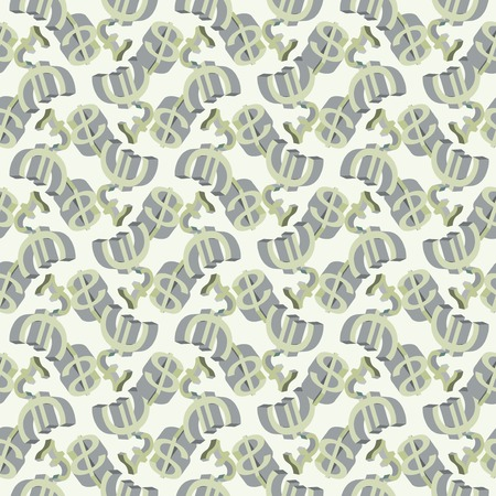 Abstract seamless pattern with money. Vector illustration illustration