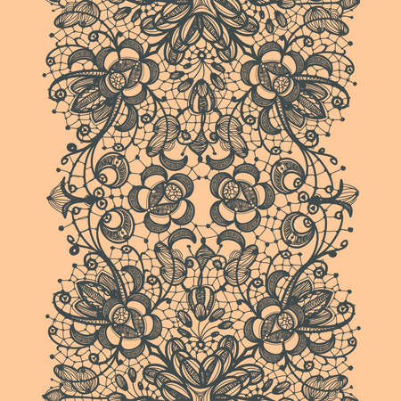 Abstract Lace Ribbon Seamless Pattern   イラスト・ベクター素材