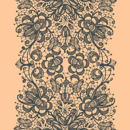 lace: Abstract Lace Ribbon Seamless Pattern  Illustration