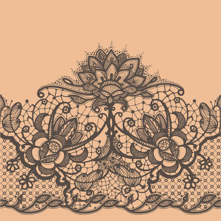 lace frame: Abstract Lace Ribbon Seamless Pattern