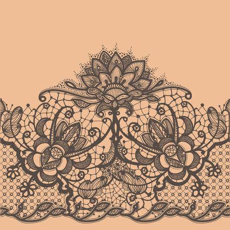 Abstracte Lace Ribbon Seamless Pattern
