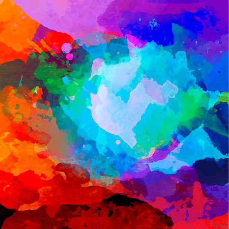 Abstract aquarel palet van blauwe kleuren, mix kleur, vector illustratie, een mix van kleuren, vlekken met een spray van water kleuren, de auteur het werk