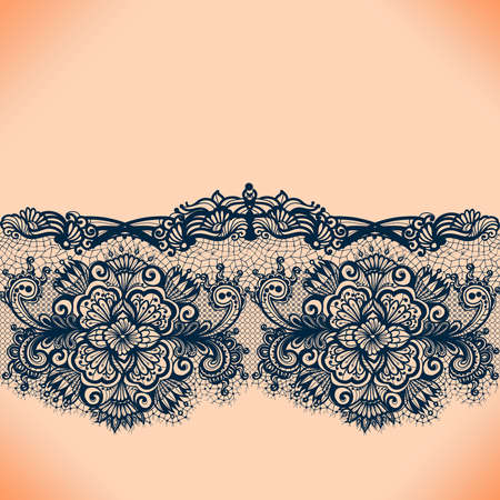 lace frame: Abstract lace ribbon seamless pattern with elements flowers. Template frame design for card. Lace Doily. Can be used for packaging, invitations, and template.