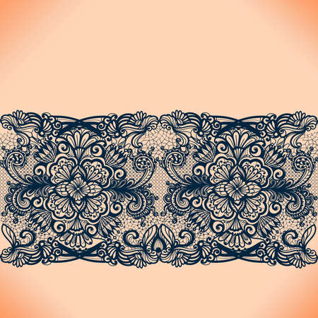 Ruban de dentelle Abstract seamless pattern avec des éléments des fleurs. Conception du cadre modèle pour carte. Napperon en dentelle. Peut être utilisé pour l'emballage, invitations, et le modèle.
