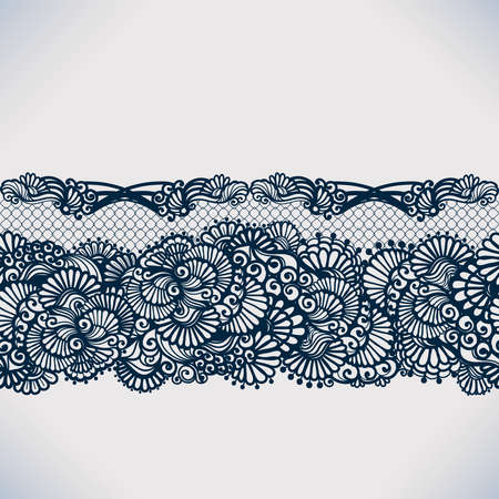 lace pattern: Abstract lace ribbon seamless pattern with elements flowers. Template frame design for card. Lace Doily. Can be used for packaging, invitations, and template.