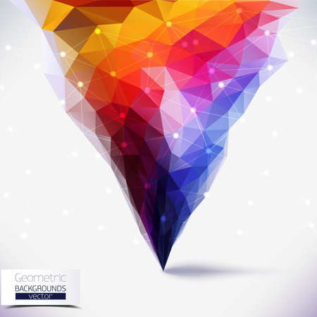 tornado: Abstract geometric colorful composition. Tornado colors.Molecule And Communication Background. Vector Illustration, Graphic Design Useful For Your Design