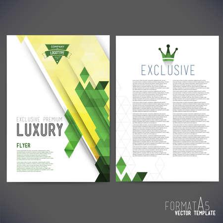 別に、ベクトル テンプレート デザイン、パンフレット、Web サイト、ページ、リーフレット、カラフルな幾何学的な三角の背景、ロゴやテキストを  イラスト・ベクター素材