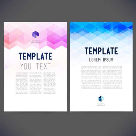 別に、ベクトル テンプレート デザイン、パンフレット、Web サイト、ページ、リーフレット、カラフルな幾何学的な三角の背景、ロゴやテキストを抽象化します。 写真素材 - 34031812