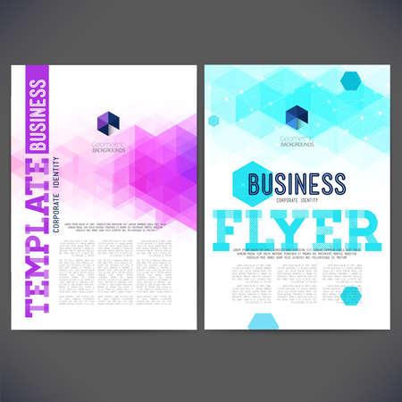抽象的なベクトル テンプレート デザイン、パンフレット、Web サイト、ページ、リーフレット