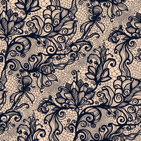Seamless Résumé de dentelle avec des fleurs. Fond d'écran à l'infini, décoration pour votre conception, de la lingerie et des bijoux. Vos cartes d'invitation, papier peint, et plus encore. Banque d'images - 36005629