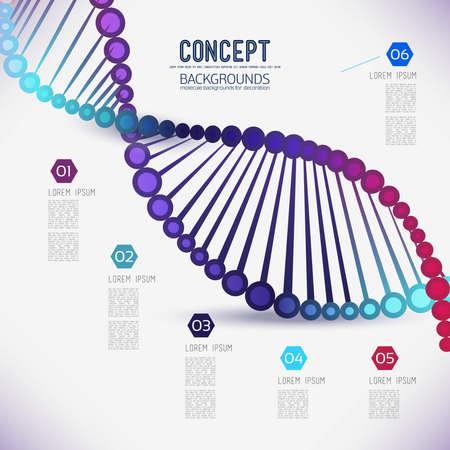adn humano: Resumen de color de ADN enrejado geométrico, el alcance de las moléculas, las moléculas en el círculo. Composición Ronda de la composición de la imagen lattice.Color molecular para su diseño.