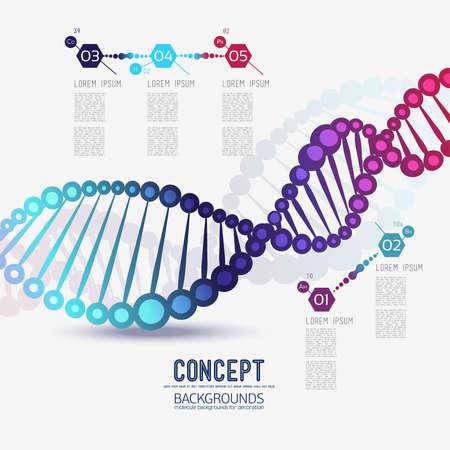 Resumen de color de ADN enrejado geométrico, el alcance de las moléculas, las moléculas en el círculo. Composición Ronda de la composición de la imagen lattice.Color molecular para su diseño.