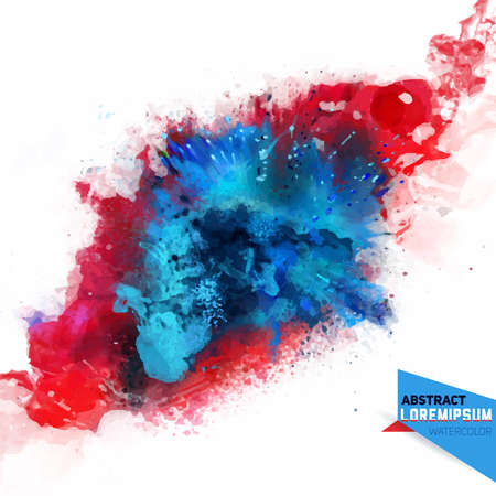 Abstraction vectorielle à partir d'un mélange de couleurs, explosion, spray de couleur, s'envoler, taches avec un spray d'aquarelles, le travail de l'auteur.Holi.Background pour bannière, affiche, identité, carte, web design. Vecteurs