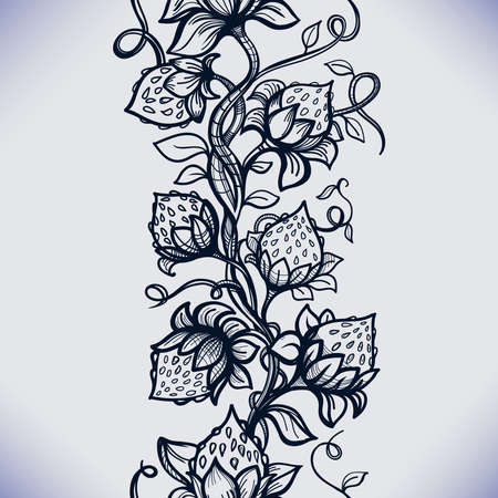 cutwork: Vector lace seamless pattern decorative strawberry,leaves,intertwined with viscous of lines.Infinitely wallpaper,decoration your design,lingerie and jewelry.Your invitation cards, wallpaper,and more.