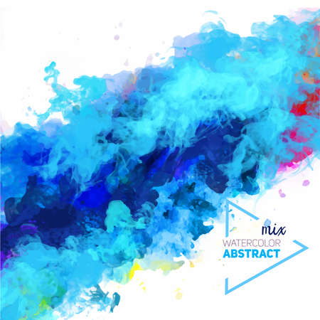 Vector abstract watercolor palette of mix colors, a mixture of colors, stains with a spray of water colors, the author's work. 스톡 콘텐츠 - 110177341