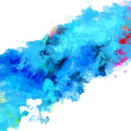 Vector abstract watercolor palette of mix colors, a mixture of colors, stains with a spray of water colors, the author's work. 스톡 콘텐츠 - 110177345