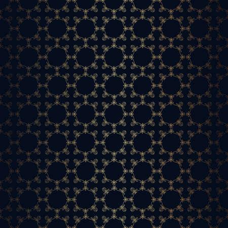 unendlich: Vector floral Linienstil schwarzem Hintergrund, nahtlose Muster Monogrammentwurf. Stufenlos Tapeten, Dessous und Schmuck. Ihre Einladungskarten, Tapete, und Dekorationen. Illustration