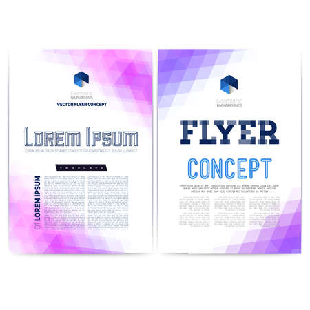 Abstract vector template design, brochure, Web sites, page, leaflet, with colorful geometric triangular backgrounds, and text separately.
