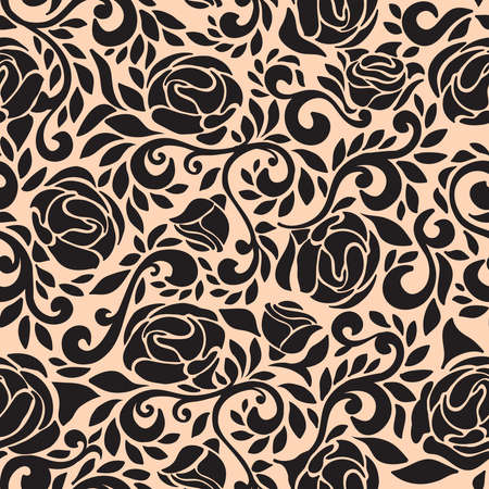 infinitely: Abstract seamless lace pattern with flowers rose. Infinitely wallpaper, decoration for your design, lingerie and jewelry. Your invitation cards, wallpaper, and more decorations. Illustration