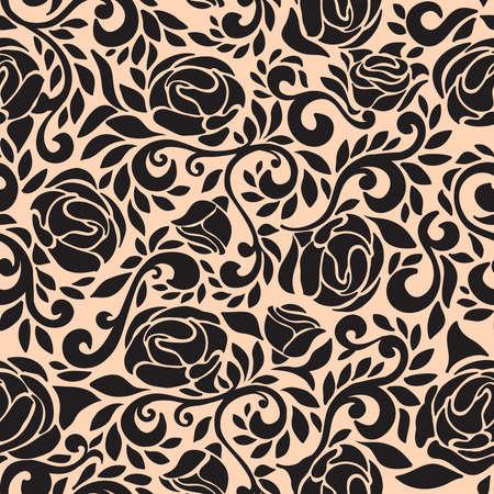 unendlich: Abstrakte nahtlose Lochmuster mit Blumen Rose. Stufenlos Tapeten, Dekoration f�r Ihr Design, Dessous und Schmuck. Ihre Einladungskarten, Tapete, und Dekorationen.
