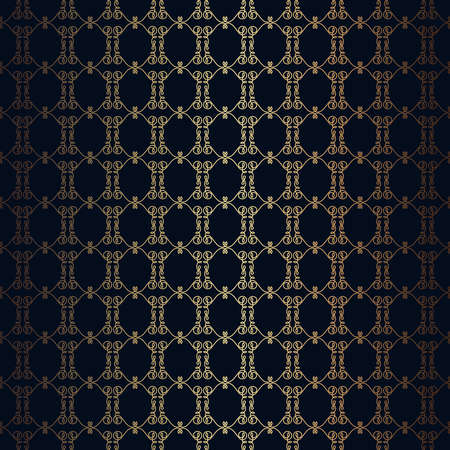 infinitely: Vector floral line style black background, seamless monogram design pattern. Infinitely wallpaper,lingerie and jewelry. Your invitation cards, wallpaper, and more decorations.