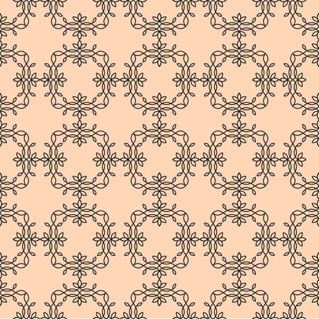 infinitely: Vector floral line style background, seamless monogram design pattern. Infinitely wallpaper,lingerie and jewelry. Your invitation cards, wallpaper, and more decorations.