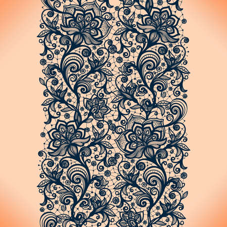lace: Abstract seamless lace pattern with flowers. Infinitely wallpaper, decoration for your design, lingerie and jewelry. Your invitation cards, wallpaper, and more.