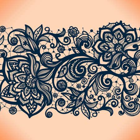 encaje: Resumen patrón de encaje transparente con flores. Wallpaper Infinitamente, decoración para su diseño, lencería y joyería. Sus tarjetas de invitación, papel pintado, y más.
