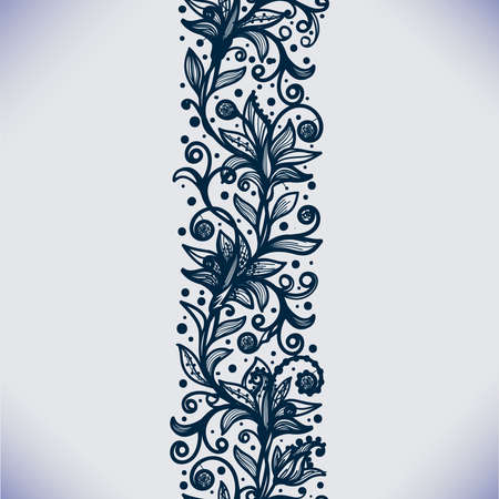 nuptials: Abstract Lace Ribbon Vertical Seamless Pattern. Template frame design for card. Lace Doily. Can be used for packaging, invitations, and template.