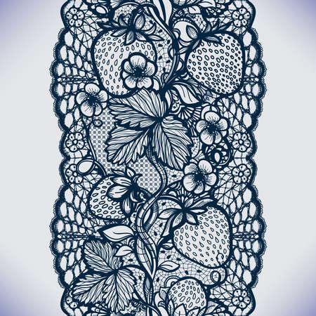 unendlich: Abstrakt nahtlose Lochmuster mit Blumen, Bl�ttern und Erdbeere. Stufenlos Tapeten, Kleidungsst�ck Dekoration f�r Ihr Design, Dessous und Schmuck. Ihre Einladungskarten, Hintergrundbilder und vieles mehr.
