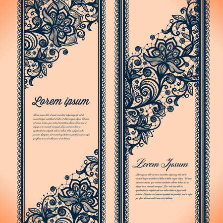 lace pattern: Abstract Lace Ribbon Vertical banners