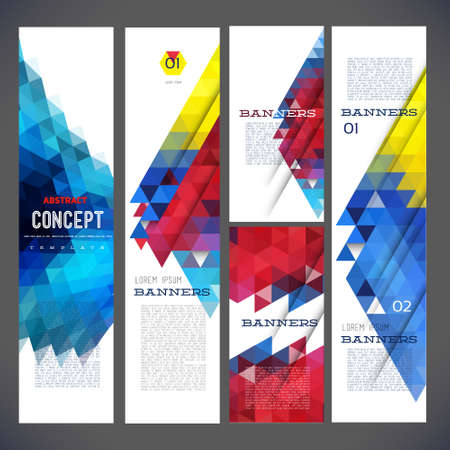 geometric: Abstract design banners template design