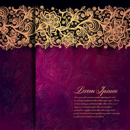 wedding invitation card: Vintage card on grunge background