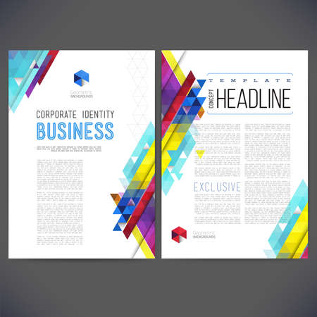 magazine page: Abstract template design Illustration
