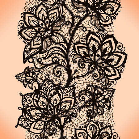 lace pattern: Abstract seamless lace pattern with flowers. Infinitely wallpaper, decoration for your design, lingerie and jewelry. Your invitation cards, wallpaper, and more.